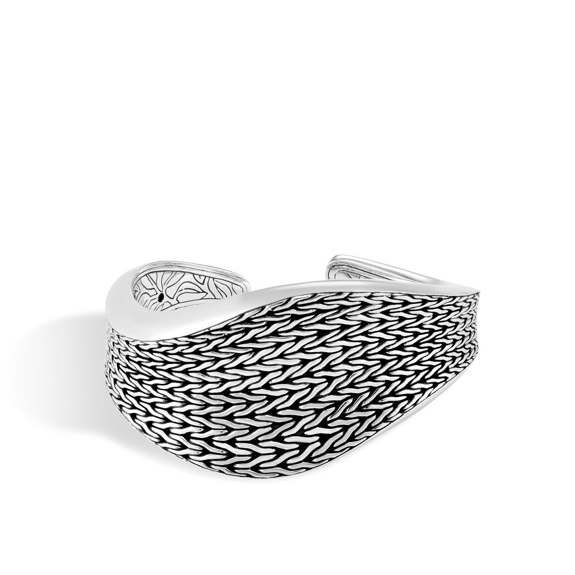 Classic Chain Wave 39MM Kick Cuff in Silver