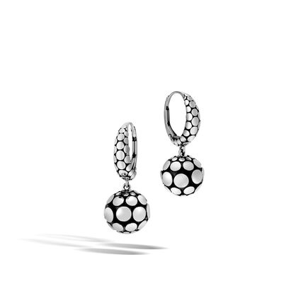 Dot Drop Earring in Silver