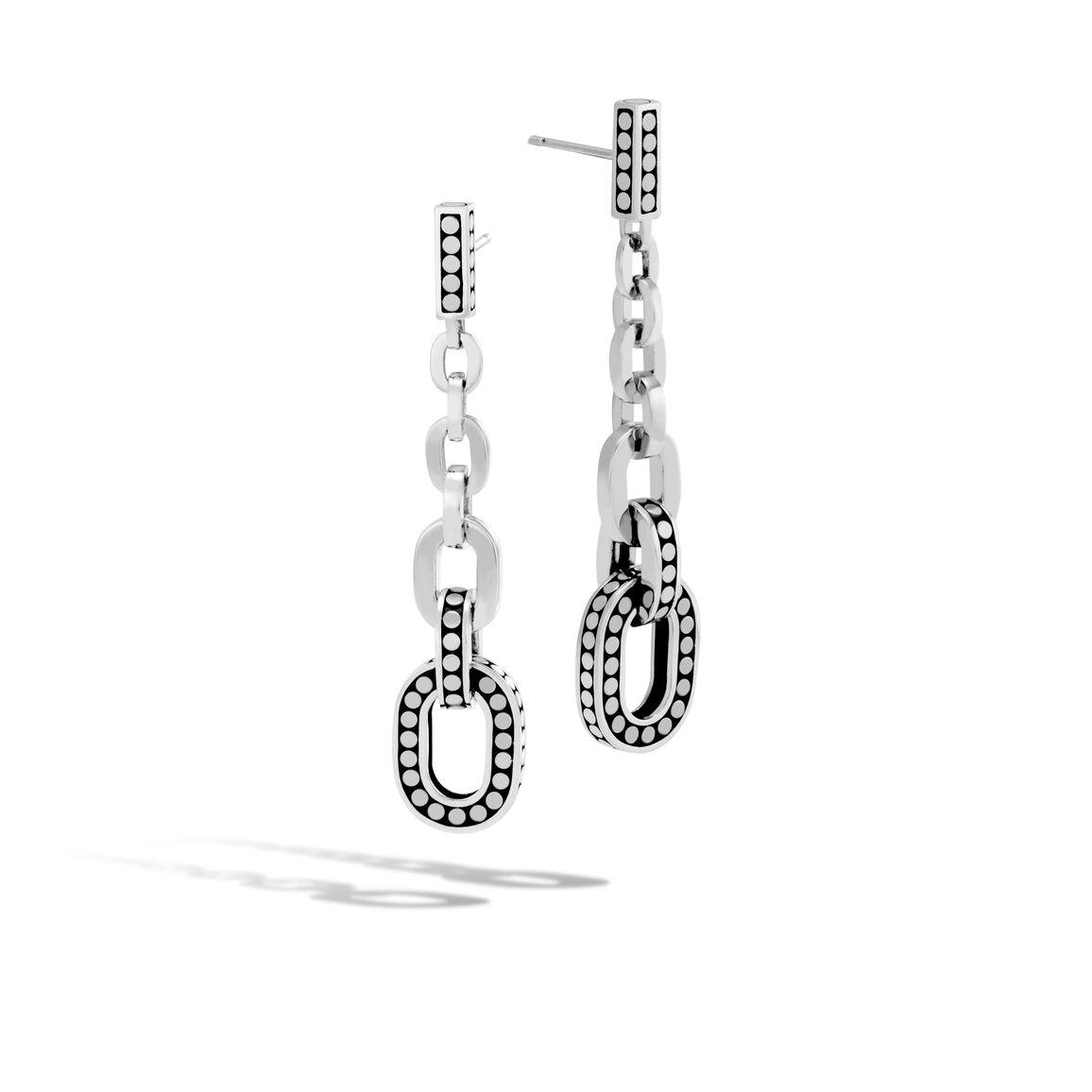 Dot Drop Earring in Silver
