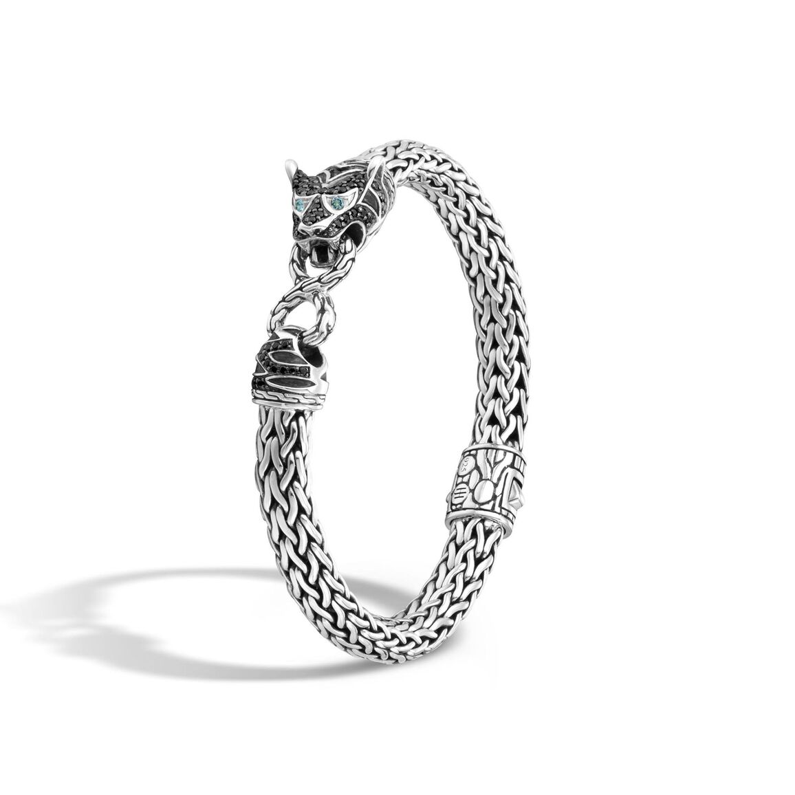 Legends Macan 7.5MM Station Bracelet in Silver with Gemstone