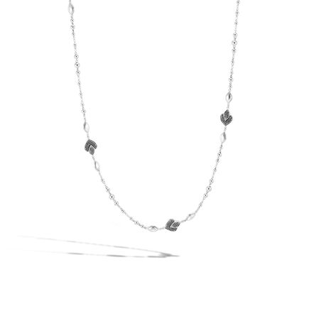 Legends Naga Station Necklace in Silver with Gemstone