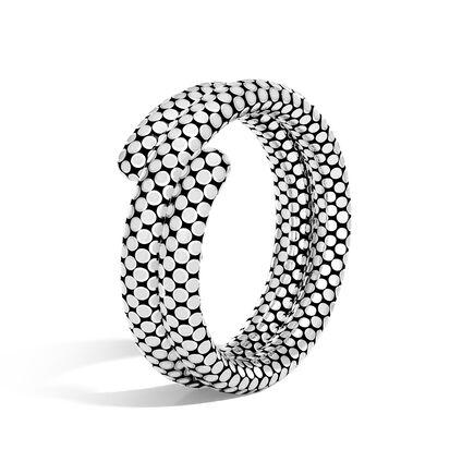 Dot Double Coil Bracelet in Silver with Enamel