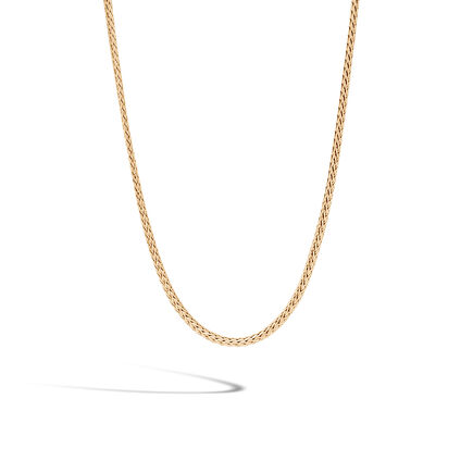 Classic Chain 2.5MM Necklace in 18K Gold