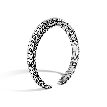 Classic Chain 11MM Graduated Kick Cuff in Silver