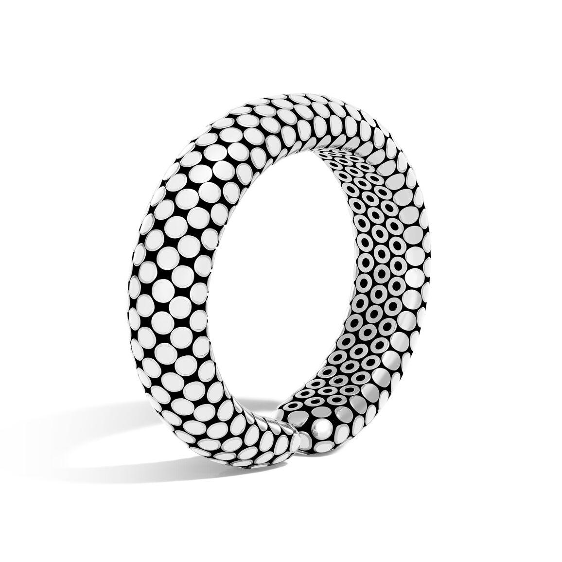 Dot 15.5MM Cuff in Silver with Enamel