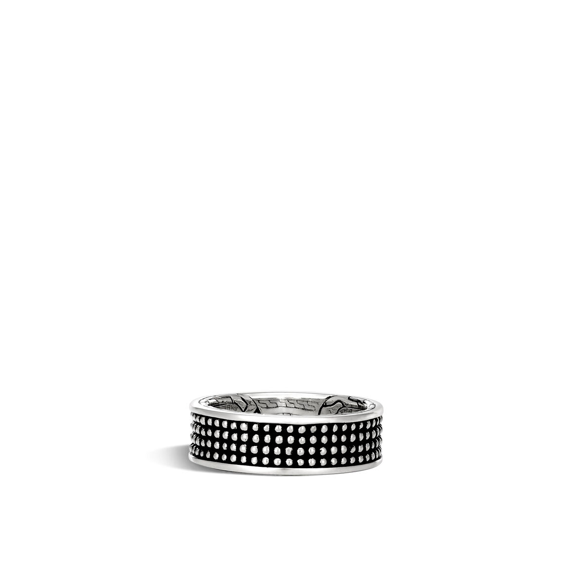chain jawan 7 5mm band ring in blackened silver