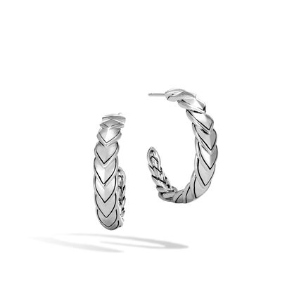 Naga Small Hoop Earring in Silver