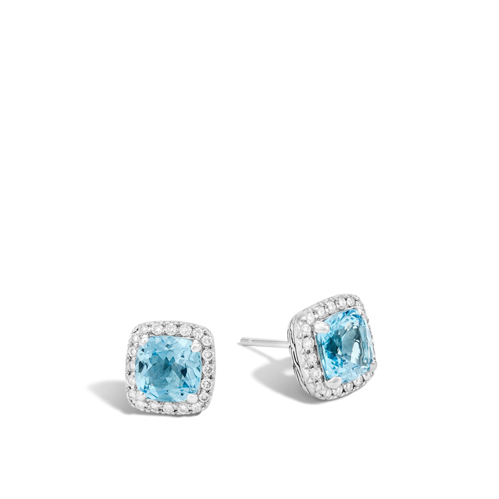 John Hardy Classic Chain Turquoise Stud Earrings h96IvvP4