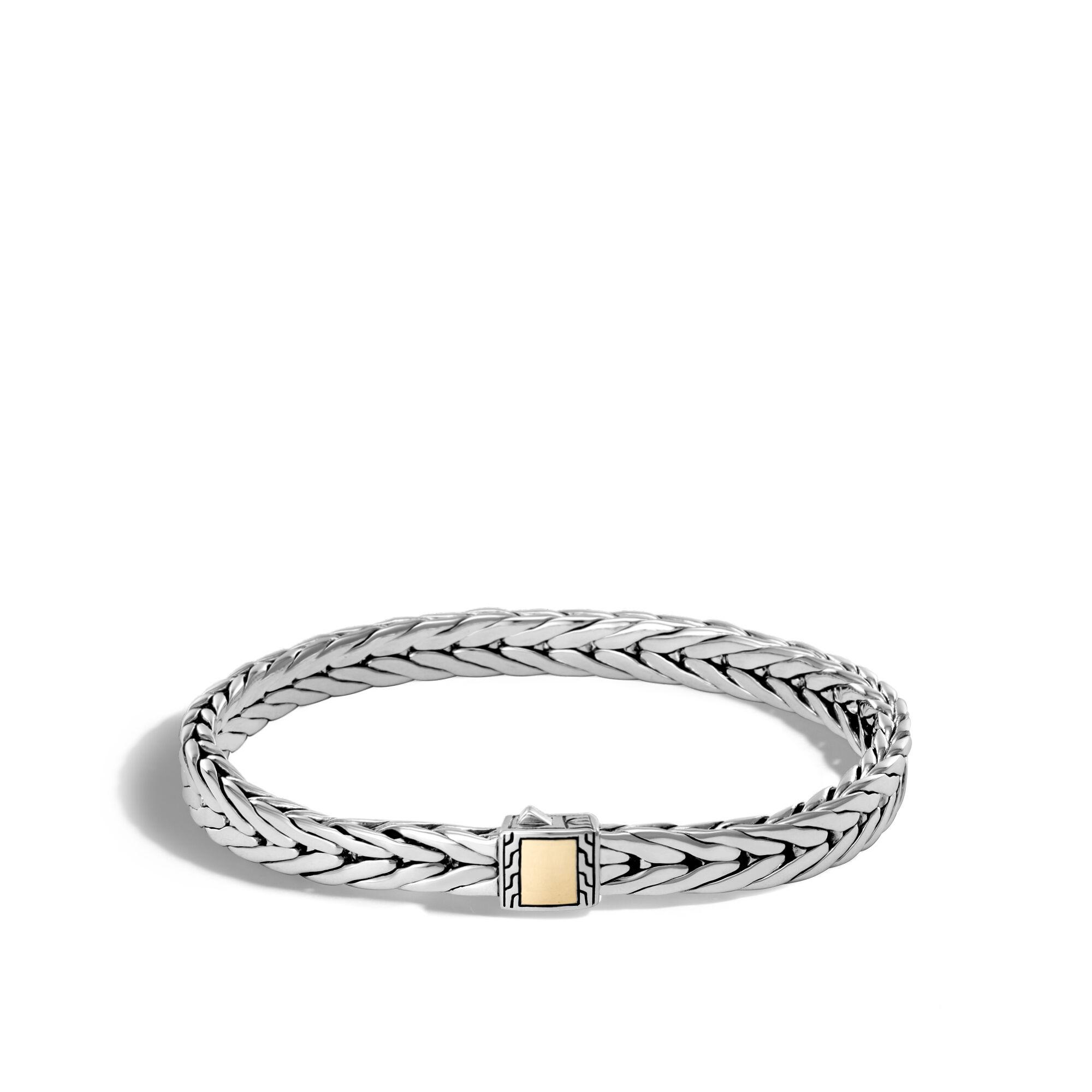 John Hardy Modern Chain Bracelet With Black Sapphire, Black Spinel Xs Black sapphire