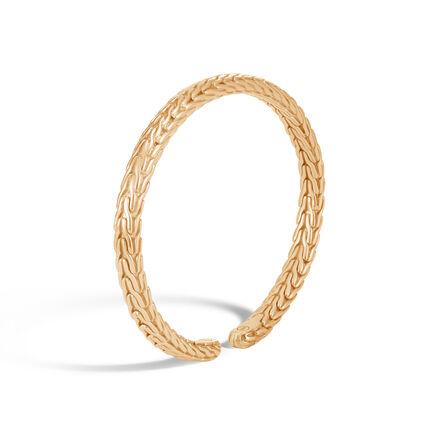 Classic Chain 6MM Cuff in 18K Gold