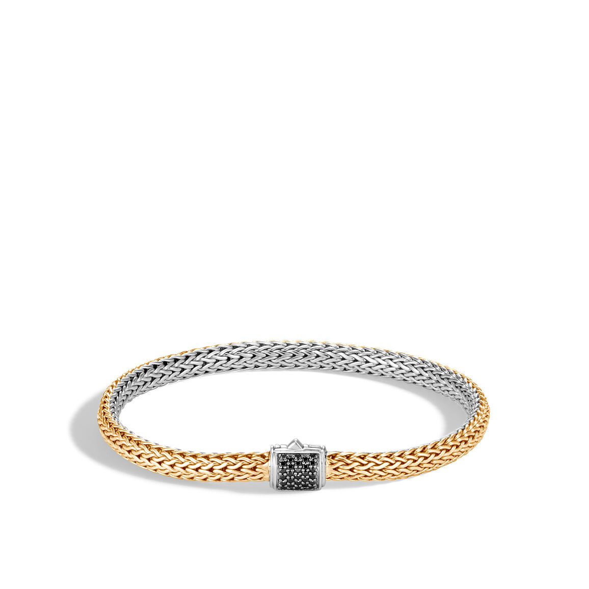 Classic Chain 5MM Reversible Bracelet, Silver, 18K, Gems
