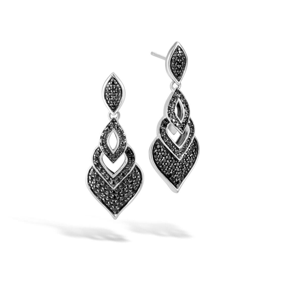 Legends Naga Drop Earring in Silver with Gemstone