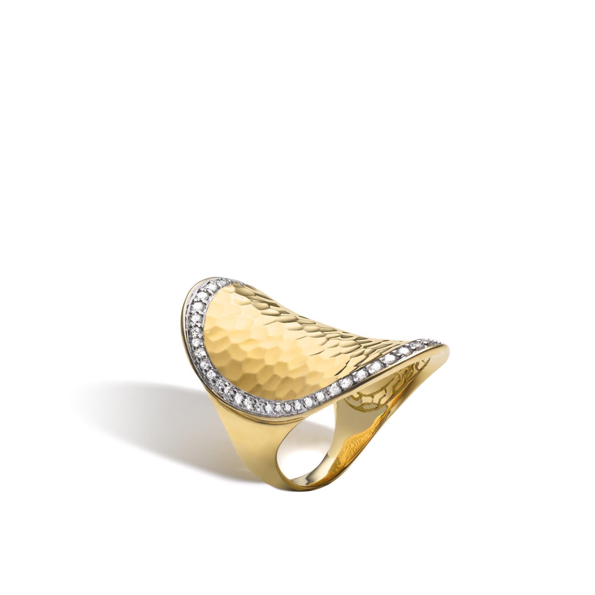 John Hardy Hammered Saddle Ring With Diamonds 9heJlOxC