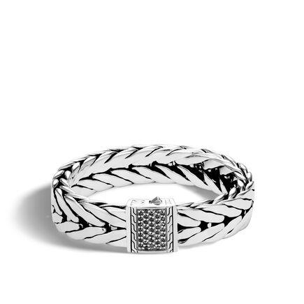 Modern Chain 16MM Bracelet in Silver with Gemstone