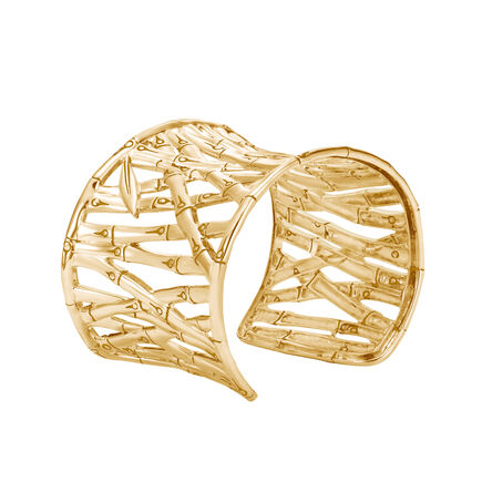 Bamboo 48MM Cuff in 18K Gold