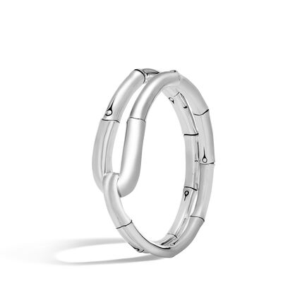 Bamboo 21MM Cuff in Silver
