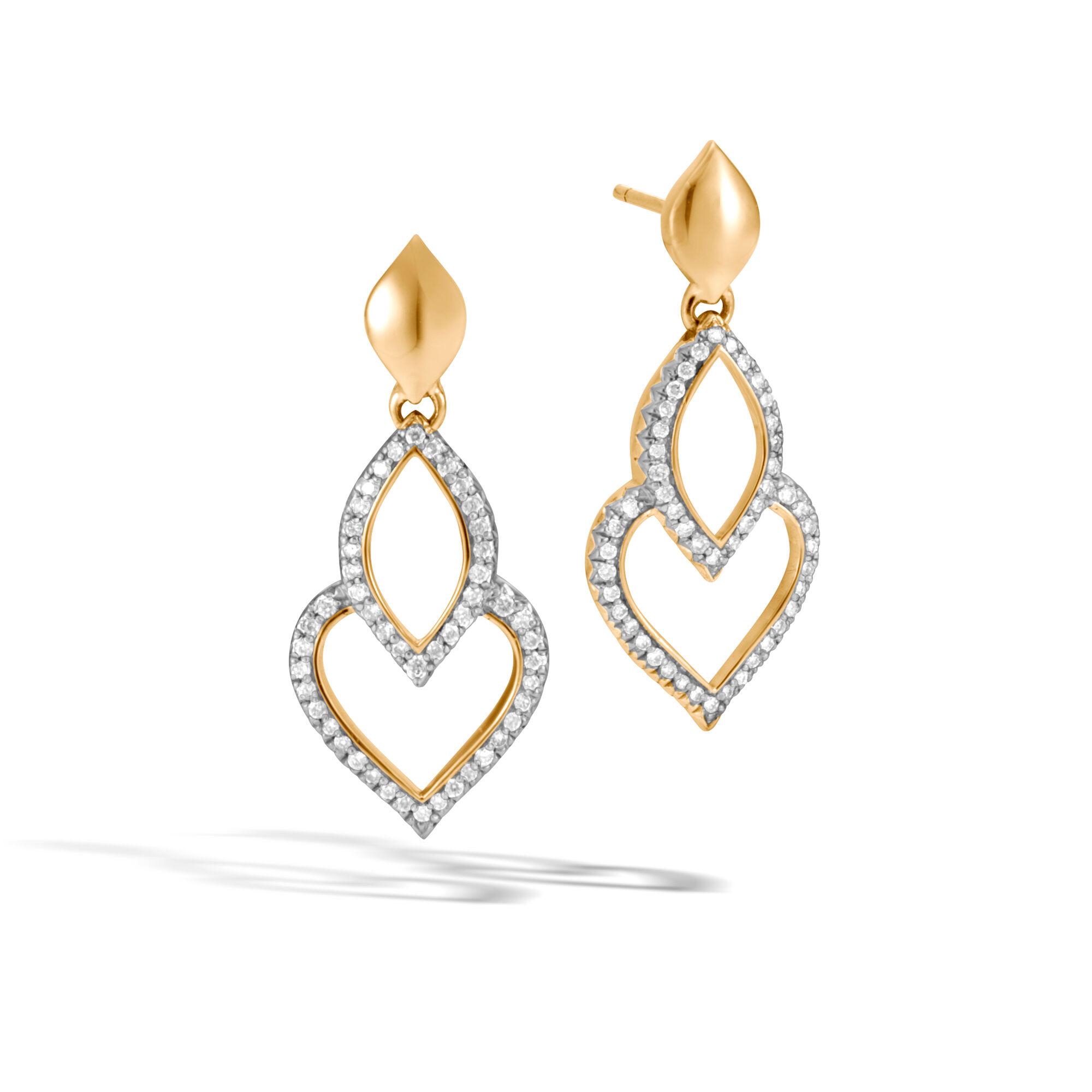John Hardy Naga Drop Earrings w/ Diamonds 9anPfD60