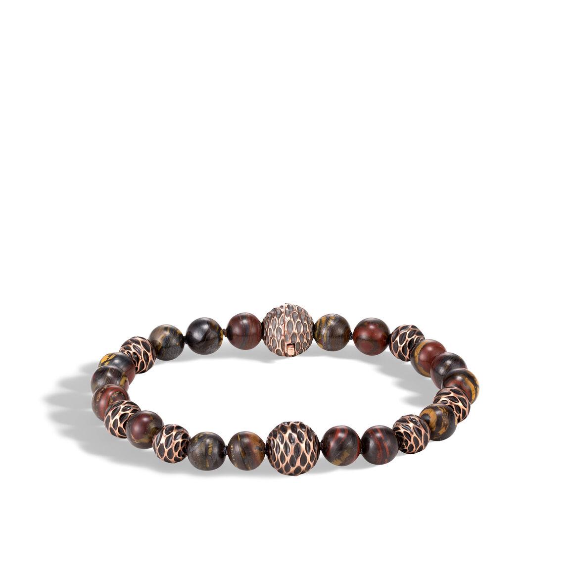 Legends Naga Bead Bracelet in Bronze with Gemstone