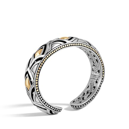 Legends Naga 14MM Kick Cuff in Silver and 18K Gold