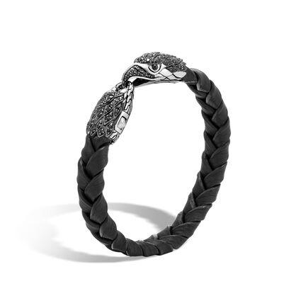 Legends Eagle 12MM Bracelet, Silver, Leather, Gemstone