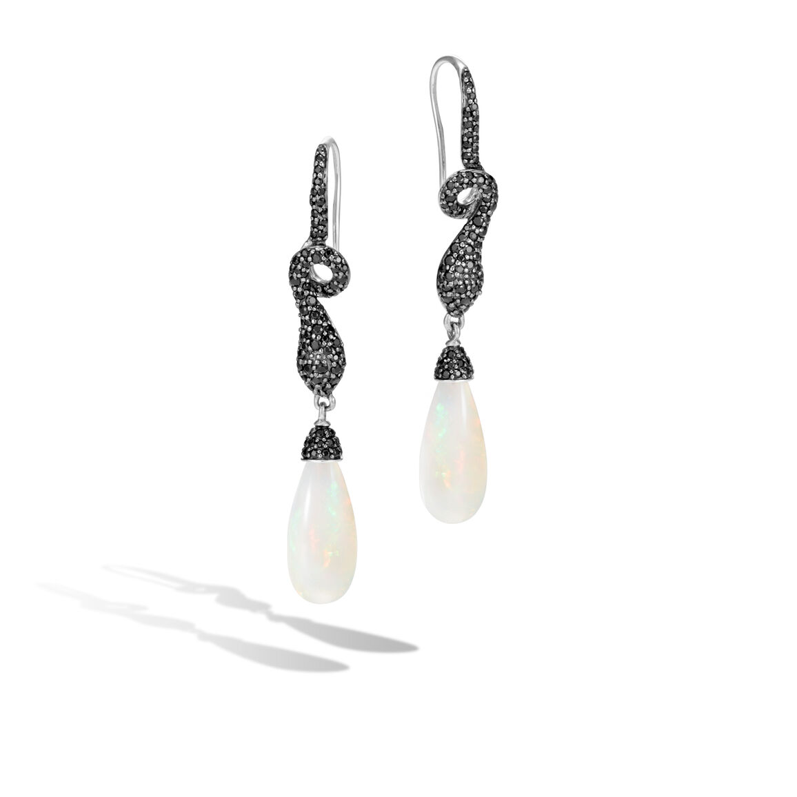 Legends Cobra Drop Earring in Silver, 20x9MM Gemstone