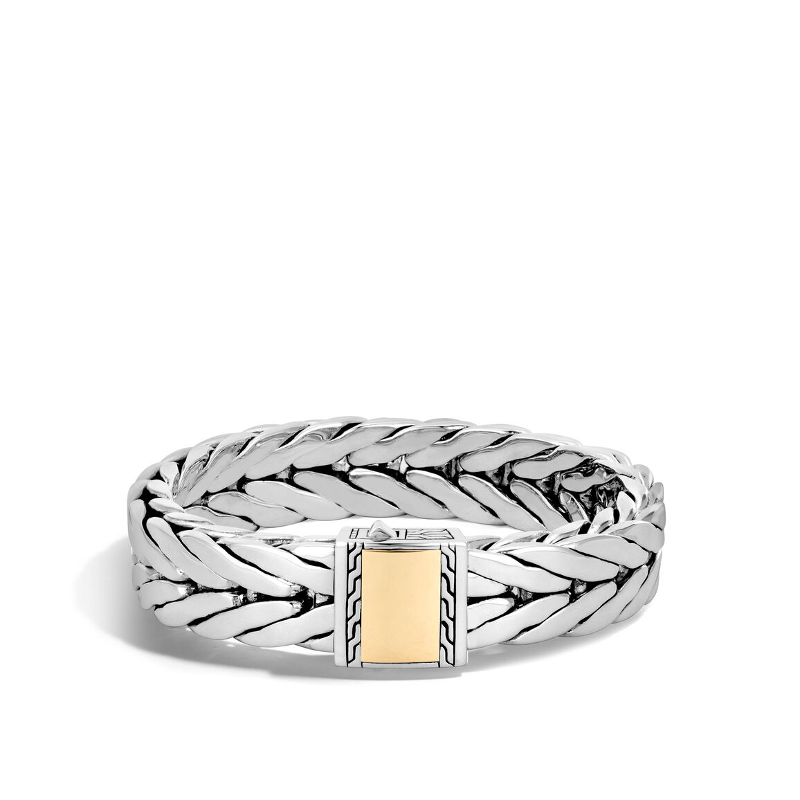 Modern Chain 16MM Bracelet in Silver and 18K Gold