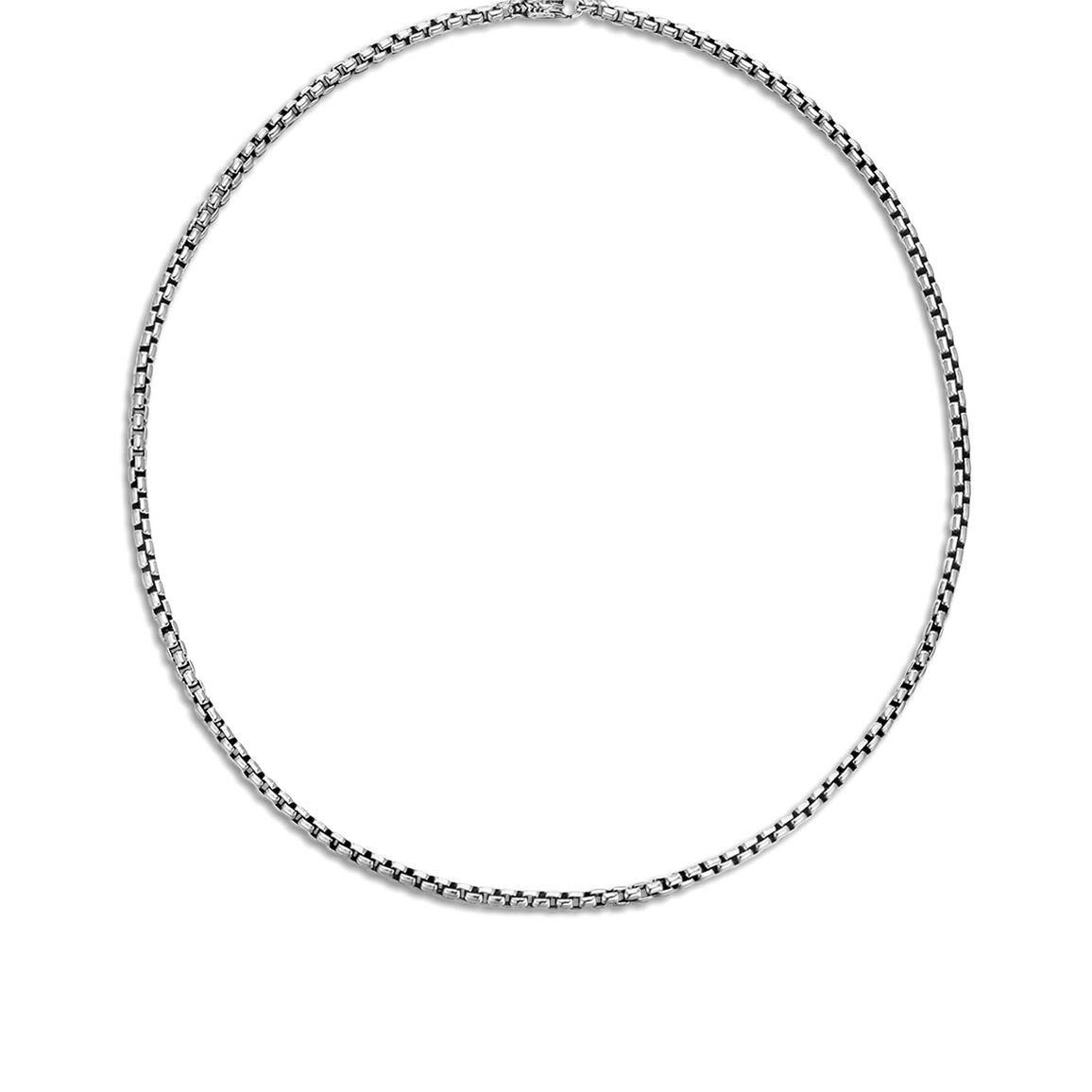 3.7MM Box Chain Necklace in Silver