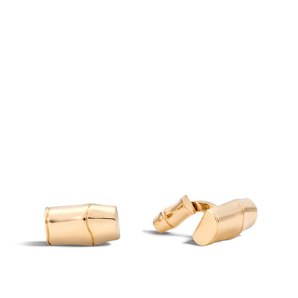 Bamboo Cufflinks in 18K Gold