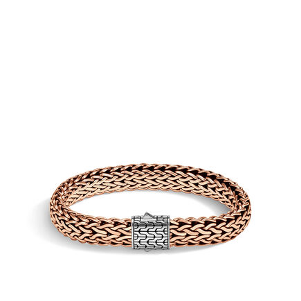 Classic Chain 11MM Bracelet in Silver and Bronze