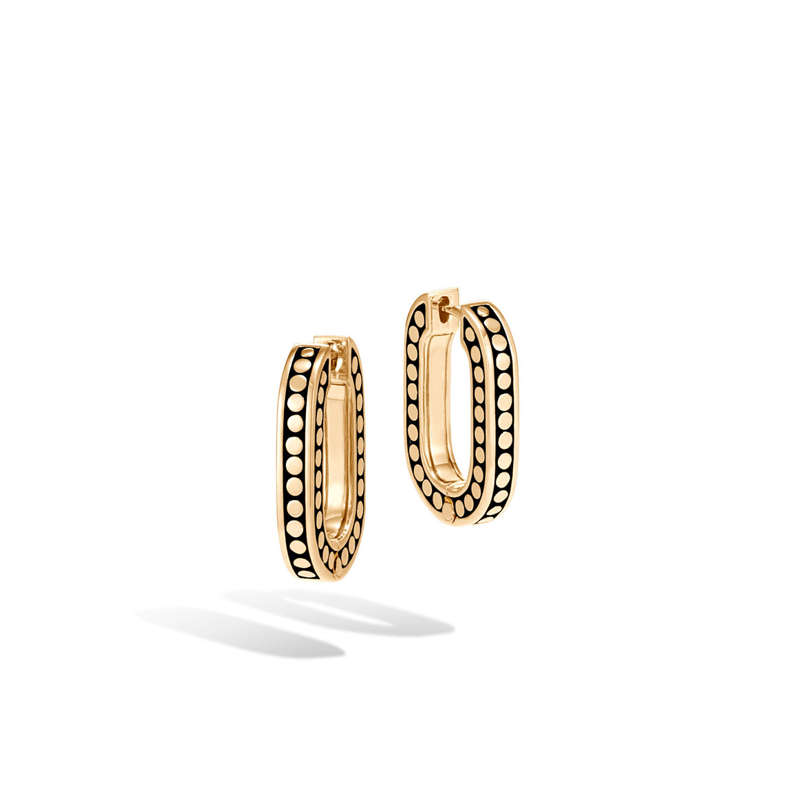 Dot Small Hoop in 18K Gold
