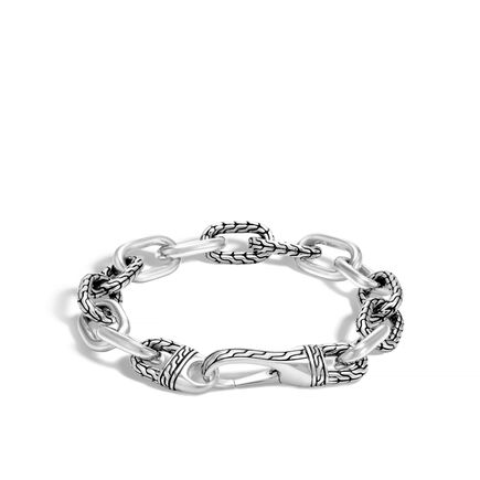 Classic Chain 12MM Link Bracelet in Silver