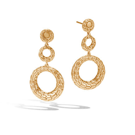 Classic Chain Drop Earring in 18K Gold
