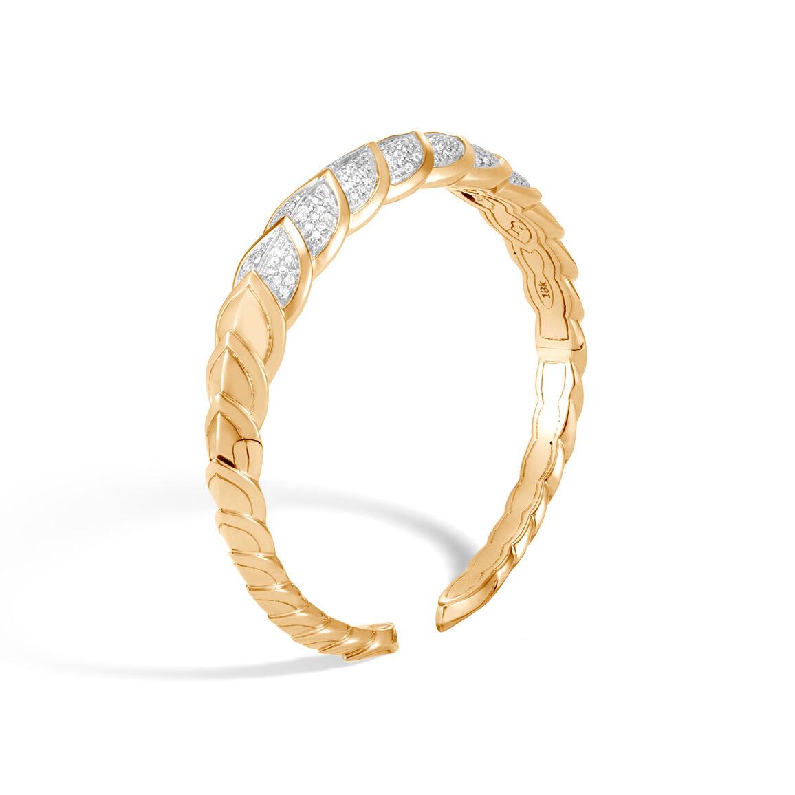 Legends Naga 9MM Cuff in 18K Gold with Diamonds