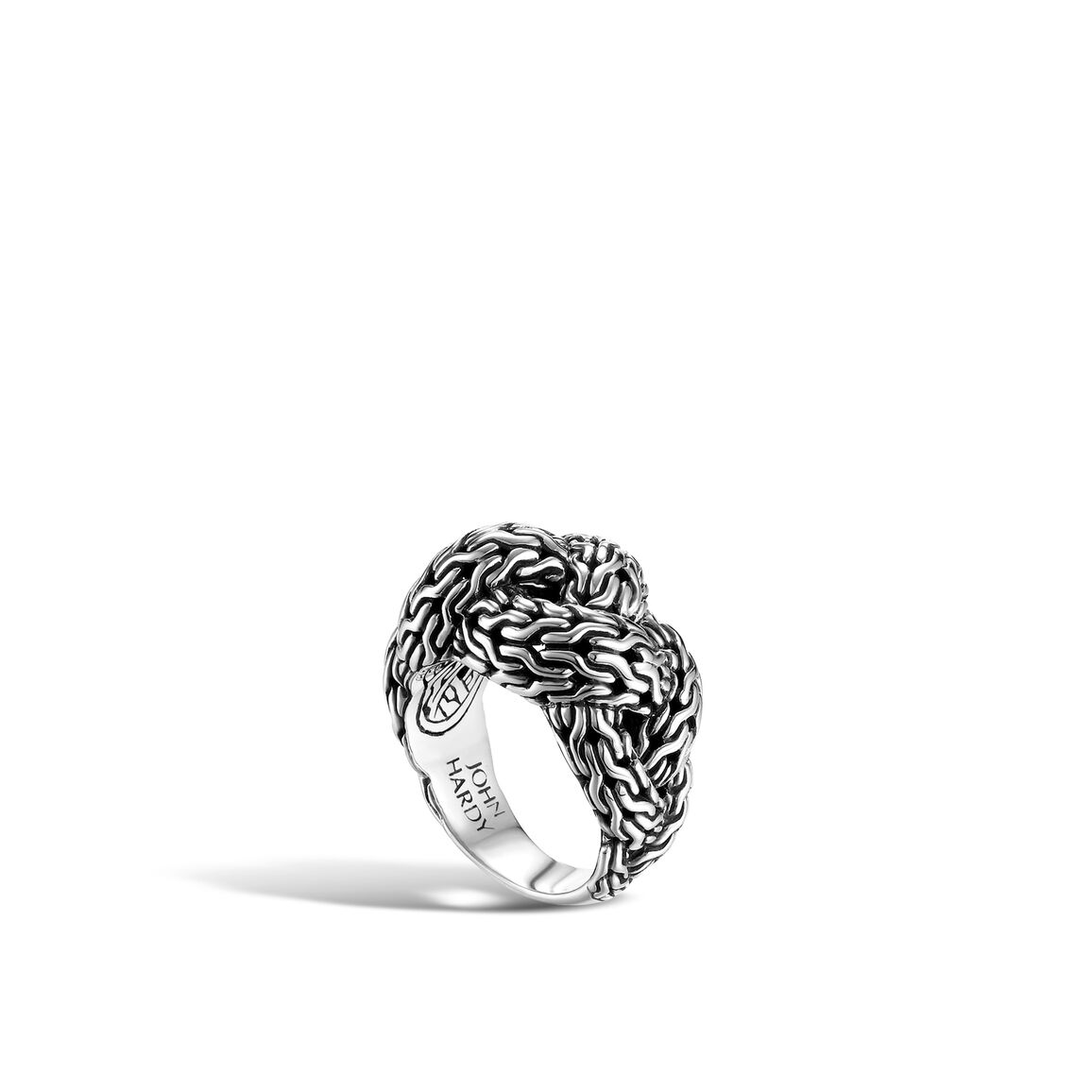 Classic Chain Small Braided Ring in Silver