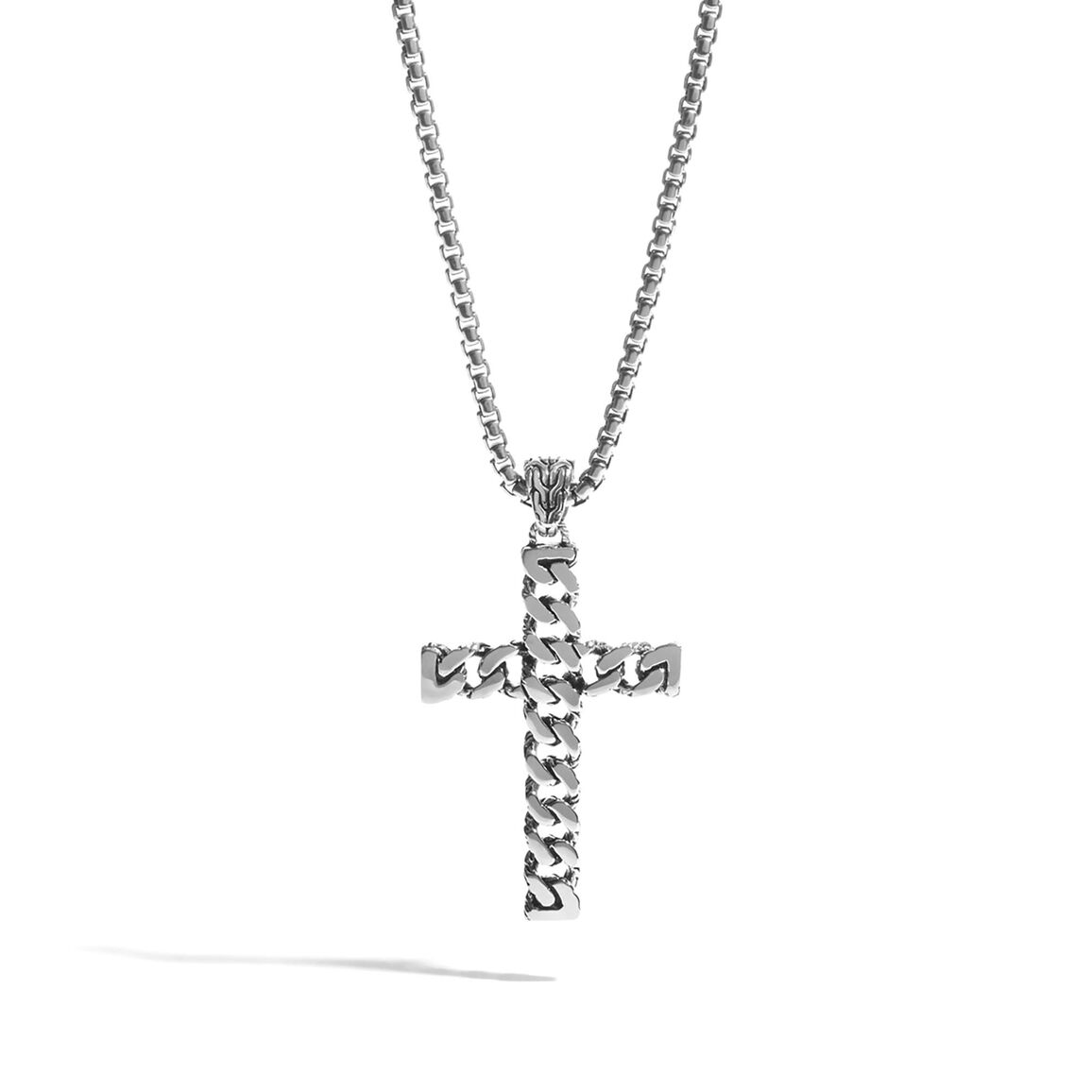 Chain cross necklace in silver classic chain cross necklace in silver aloadofball Image collections