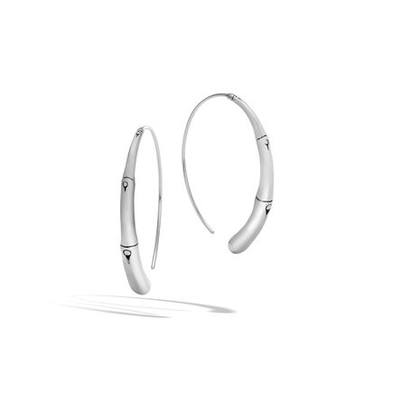 Bamboo Large Hoop Earring in Silver