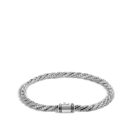 Twisted Chain 4MM Bracelet in Silver