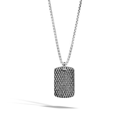 Legends Naga Dog Tag Pendant in Silver