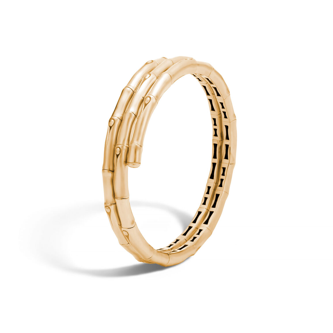 Bamboo Double Coil Bracelet in 18K Gold