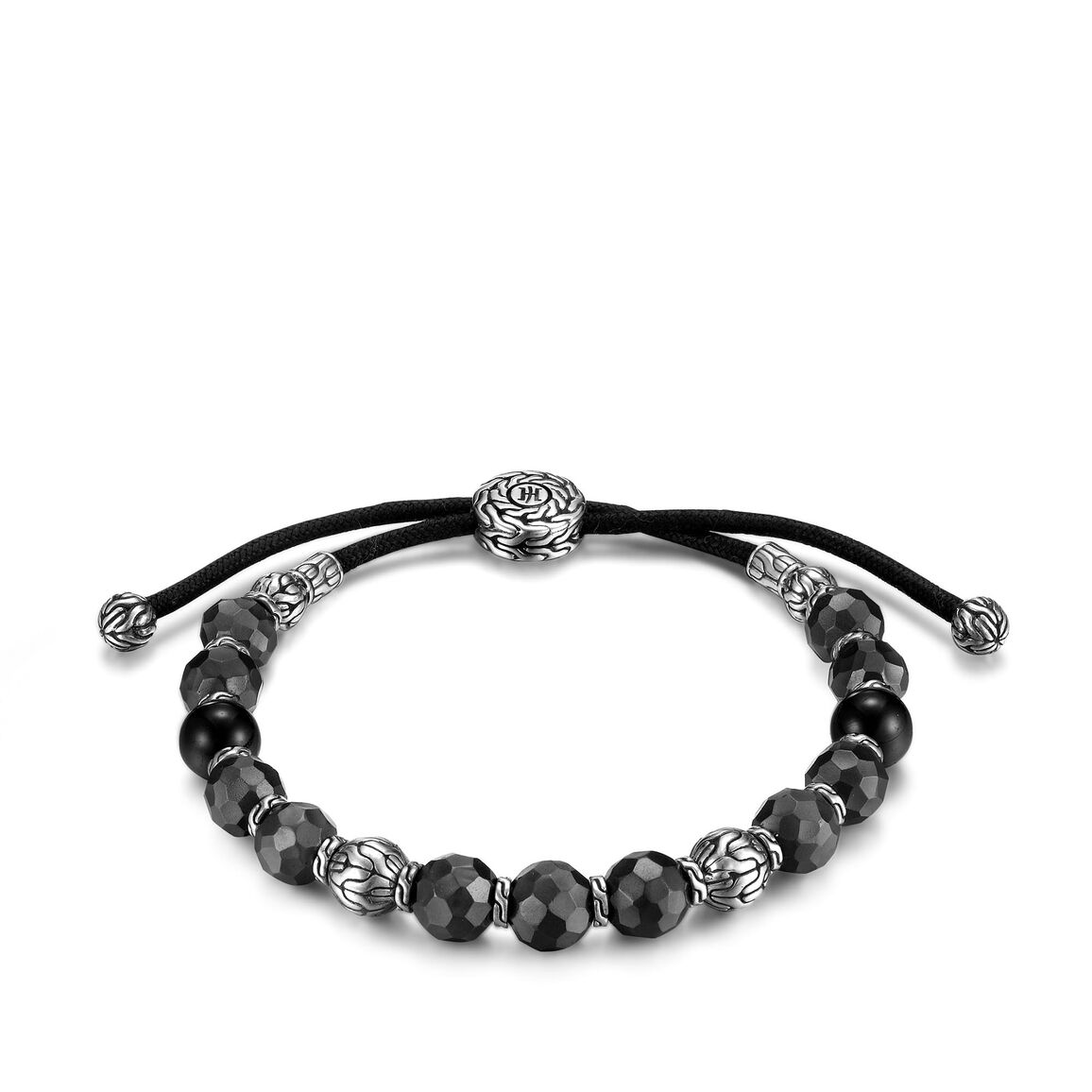 Classic Chain Pull Through Bracelet in Silver and Blackened Bronze