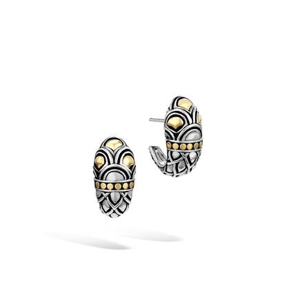 Legends Naga Buddha Belly Earring in Silver and 18K Gold