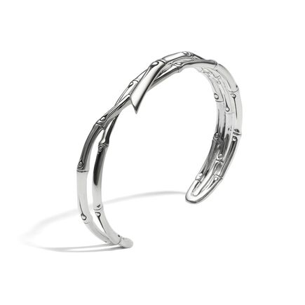 Bamboo 11.5MM Cuff in Silver