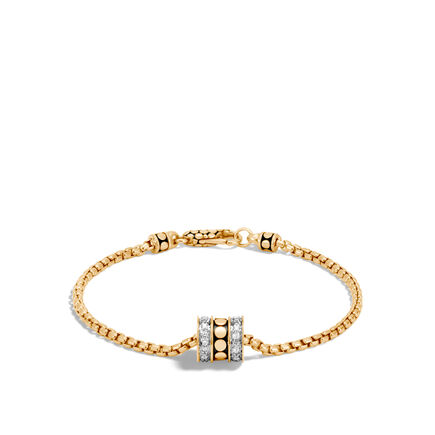 Dot 2.5MM Bracelet in 18K Gold with Diamonds