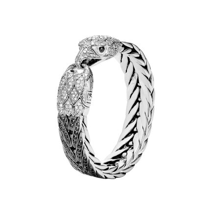 Legends Eagle 15MM Bracelet, Silver, Gemstone, Diamonds