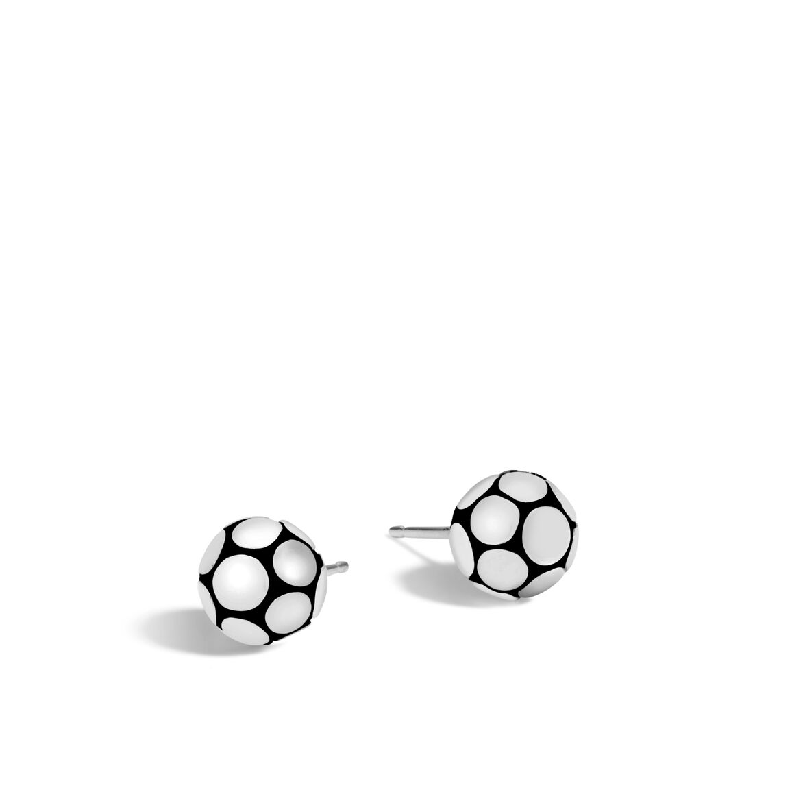 Dot Stud Earring in Silver