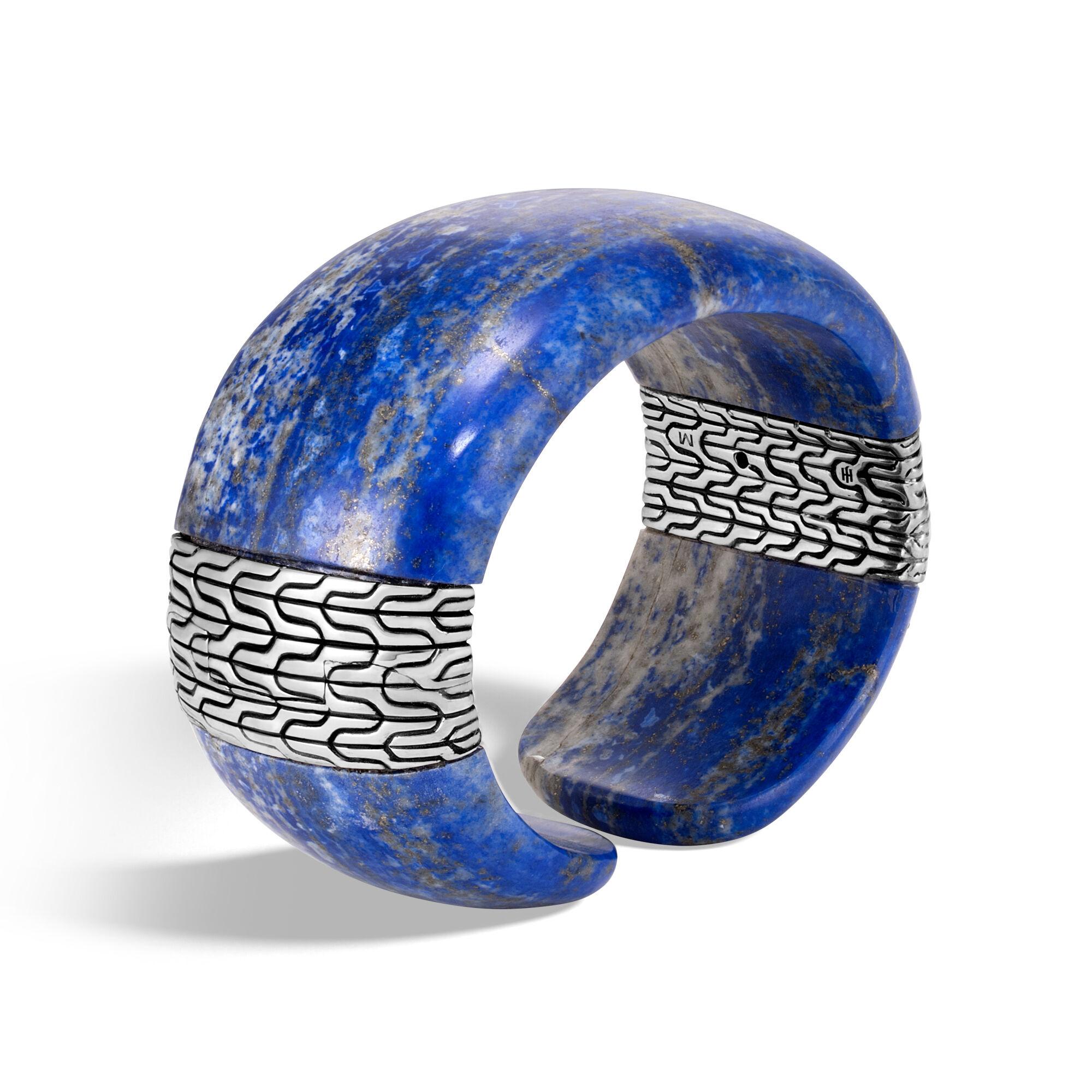 John Hardy Classic Chain Kick Cuff With Lapis Lazuli S Lapis lazuli KohKc