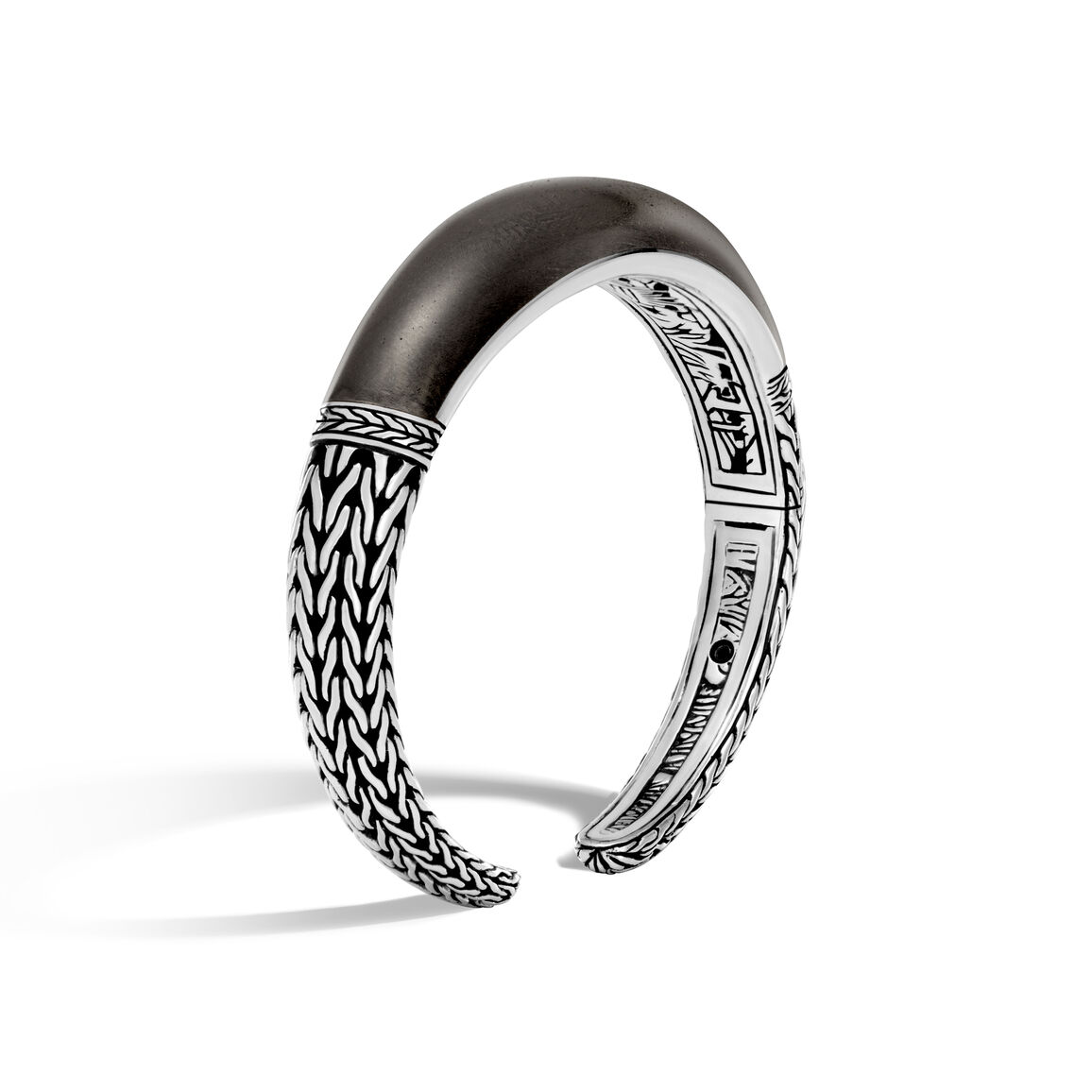 Classic Chain 12MM Kick Cuff in Silver and Wood