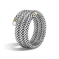 John Hardy - Dot Triple Coil Bracelet in Silver and 18K Gold, Gemstone