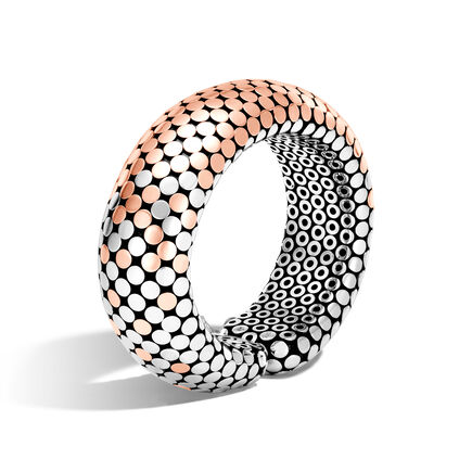 Dot 22MM Cuff in Silver and 18K Rose Gold