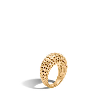 Classic Chain 11MM Dome Ring in 18K Gold